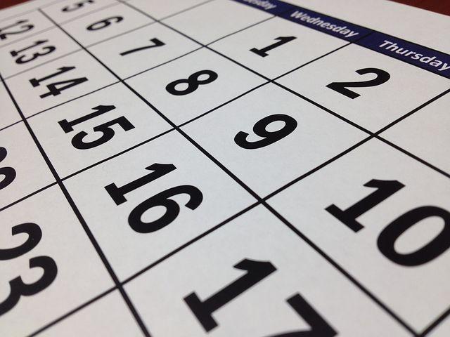 scheduleはカレンダーのことを指すのか