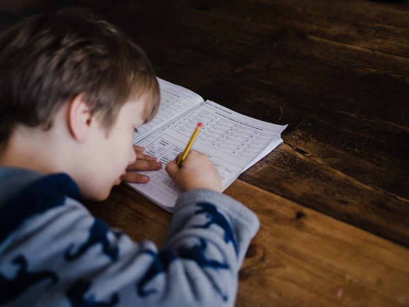 学校の宿題はhomework